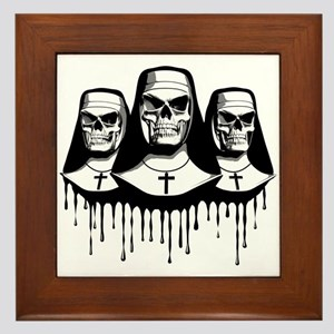 Evil Nuns Framed Tile