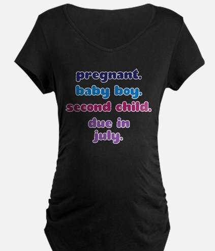 2nd BABY BOY DUE IN JULY T-Shirt