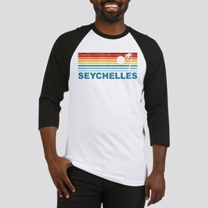 Retro Palm Tree Seychelles Baseball Jersey