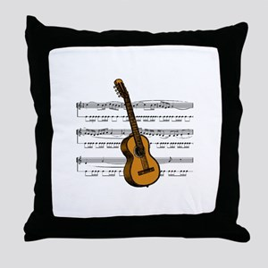 Music (Guitar) Throw Pillow