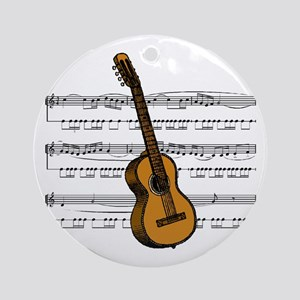 Music (Guitar) Ornament (Round)