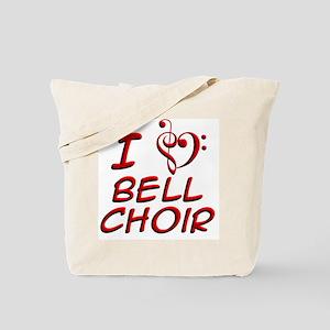 I Love Bell Choir Tote Bag