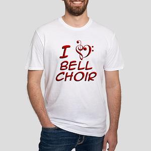 I Love Bell Choir Fitted T-Shirt