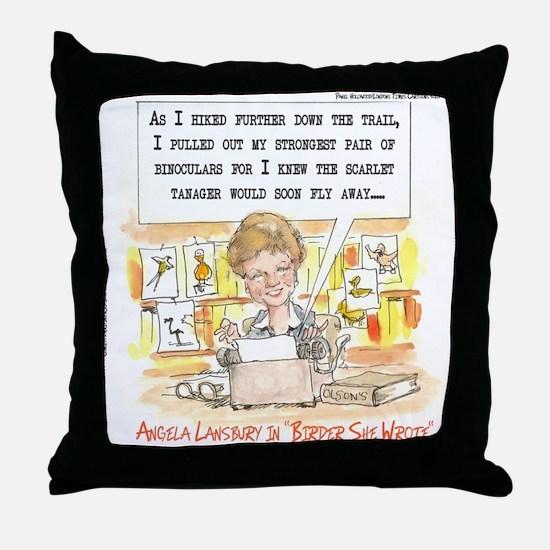 Birder, She Wrote Throw Pillow