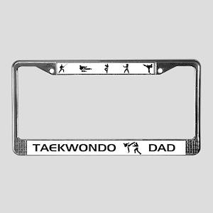 Taekwondo Dad License Plate Frame