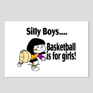 Silly Boys Basketball Is For Girls Postcards (Pack