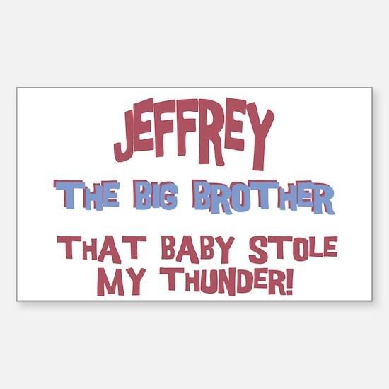 Jeffrey - Stole My Thunder Rectangle Decal