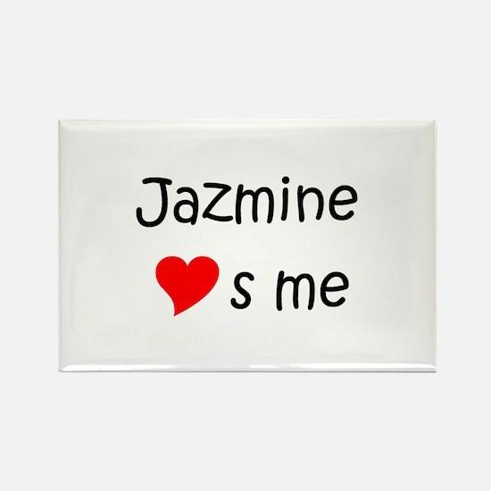 Funny Jazmine Rectangle Magnet