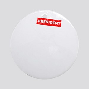 Funny 4th of July President Abe Lin Round Ornament