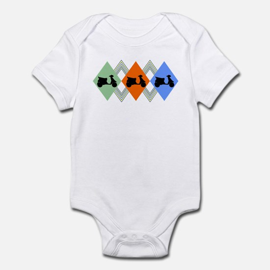 vintage scooter Infant Bodysuit