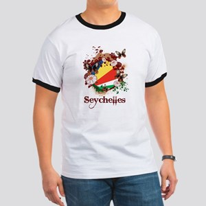 Butterfly Seychelles Ringer T