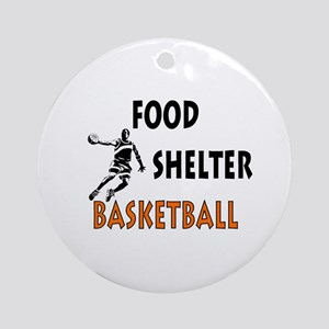 Food Shelter Basketball Ornament (Round)