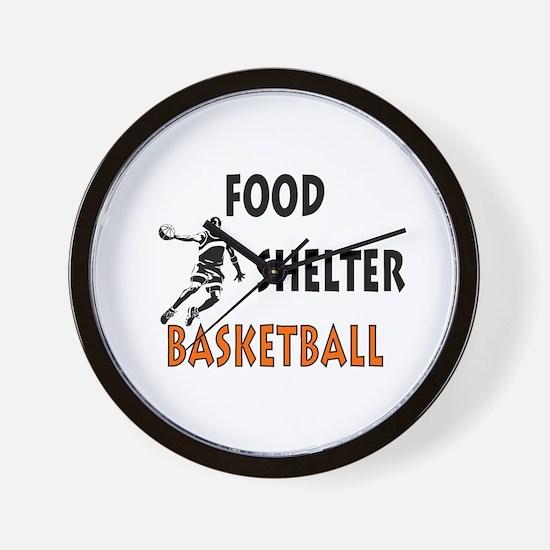 Food Shelter Basketball Wall Clock