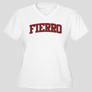 FIERRO Design Women's Plus Size V-Neck T-Shirt