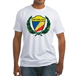 Stylized Seychelles Fitted T-Shirt