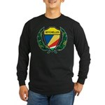Stylized Seychelles Long Sleeve Dark T-Shirt