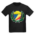 Stylized Seychelles Kids Dark T-Shirt
