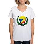 Stylized Seychelles Women's V-Neck T-Shirt
