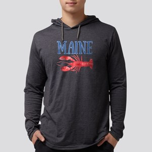 Watercolor Maine Lobster Mens Hooded Shirt