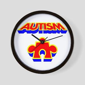 Autism Puzzle Piece Wall Clock