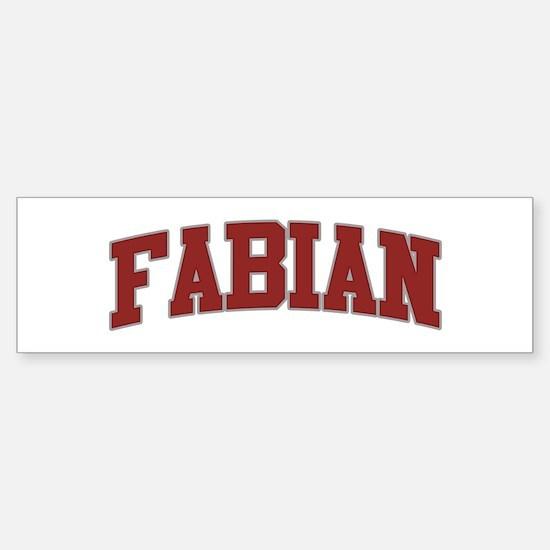 FABIAN Design Bumper Bumper Bumper Sticker