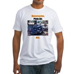 Motorcycles. Plein Air. Mix. Fitted T-Shirt