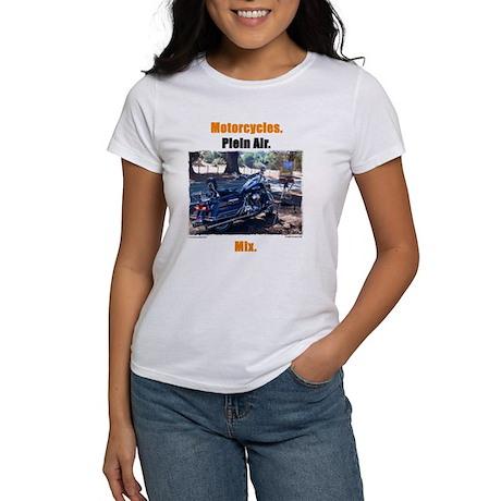 Motorcycles. Plein Air. Mix. Women's T-Shirt