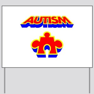 Autism Puzzle Piece Yard Sign