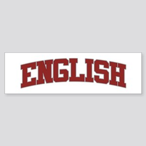 ENGLISH Design Bumper Sticker