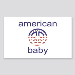 """""""American Peace Baby"""" Rectangle Sticker"""