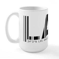 Los Angeles LAX Airport Code Large Mug