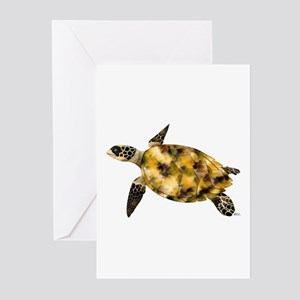 Sea Turtle\Ride Current Greeting Cards (6)