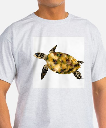 Sea Turtle \ Ride Current Ash Grey T-Shirt