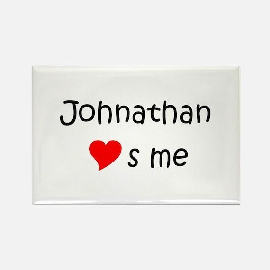 Cute Name johnathan Rectangle Magnet