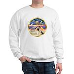 XmasStar/German Shepherd #13B Sweatshirt