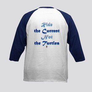 Sea Turtle\Ride Current Kids Baseball Jersey