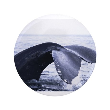 """Whales Tail 3.5"""" Button"""