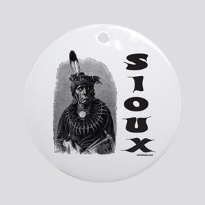 SIOUX INDIAN CHIEF Ornament (Round)