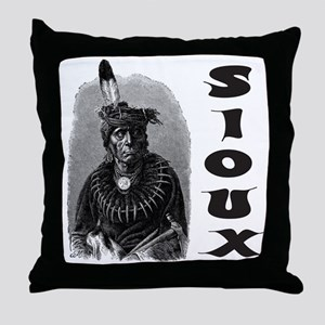 SIOUX INDIAN CHIEF Throw Pillow