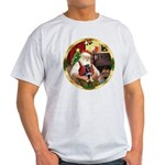 Santa's German Shepherd Pup Light T-Shirt