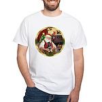 Santa's German Shepherd Pup White T-Shirt