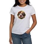 Santa's German Shepherd Pup Women's T-Shirt