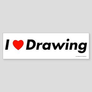 I love Drawing Bumper Sticker