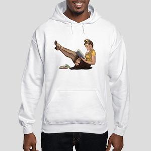 Librarian Girl Hooded Sweatshirt