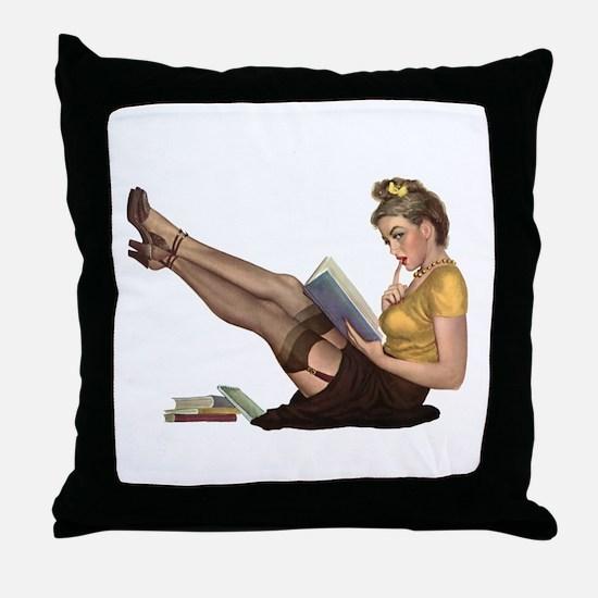 Librarian Girl Throw Pillow
