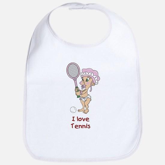 I love Tennis (Girl) Bib