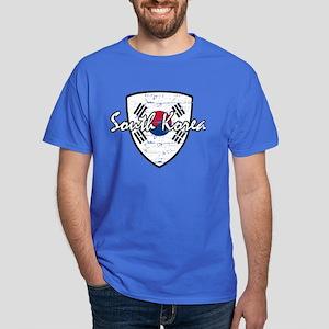 South Korea distressed flag Dark T-Shirt
