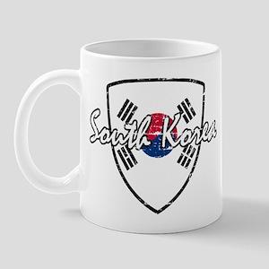 South Korea distressed flag Mug