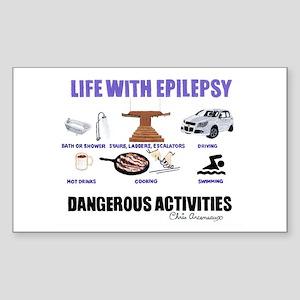 DANGEROUS ACTIVITIES Sticker (Rectangle)
