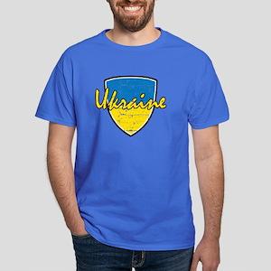 Ukrainian distressed flag Dark T-Shirt
